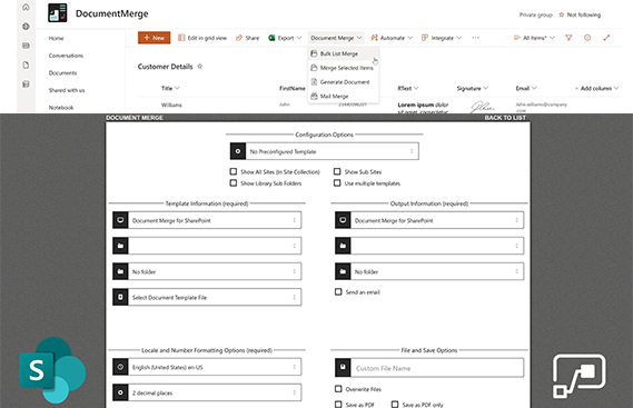 SharePoint Document Merge